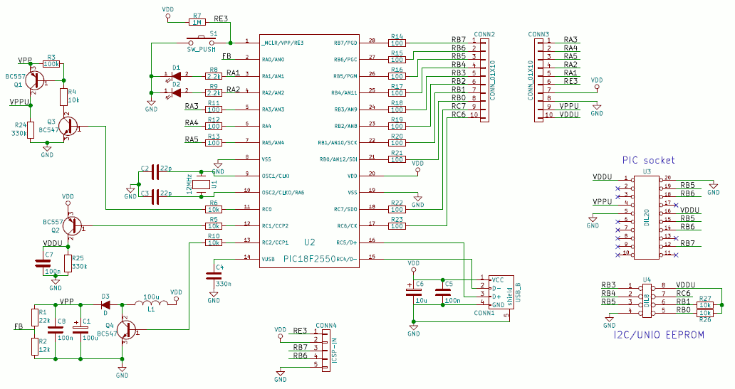 Open Programmer, an open source USB programmer for PIC, ATMEL AVR ...